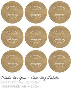 Made For You canning label printouts! // Freebies from thepapermama.com
