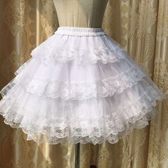 Aliexpress.com : Buy Vintage Palace Princess Skirt Pettiskirt Sweet Kawaii Lolita Skirt Lace Petticoat Ball Gown Lined Bottoming Skirt Black White from Reliable skirt pins suppliers on Love Princess clothing