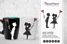 Love Couple SVG - Kissing Boy