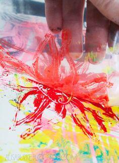 printing with plastic bags by Alisa Burke #video #tutorial #monoprinting