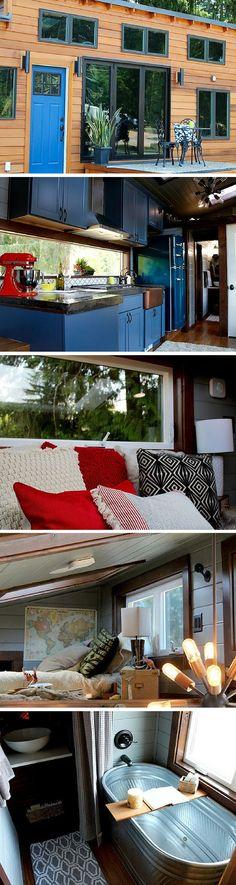 Window backsplash for light!! The Luxurious tiny house from Tiny Heirloom of Portland, Oregon