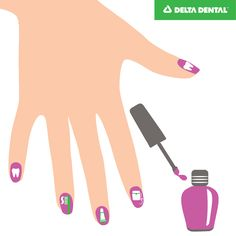 Springtime is the best time to show off your style with fun designs for your fingernails! How do you get creative with your nails? #DeltaDental