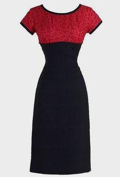 2af161ac17c6 Vintage black and red wiggle dress