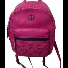NWT Gianni Bini Studded Pink Backpack Style Purse Handbag #GianniBini #Backpack