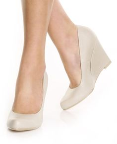 I could wear wedges like one could wear houseshoes.