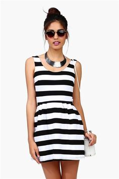 Necessary Clothing Alice Classic Dress - Black/White