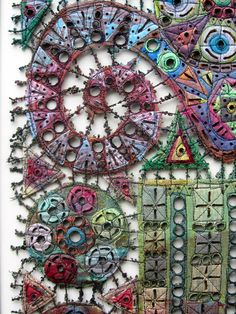 Susan Lenz - Installationals and Contemporary Embroidery textile art Creative Embroidery, Embroidery Art, Embroidery Stitches, Textile Fiber Art, Textile Artists, Creative Textiles, Contemporary Embroidery, Free Machine Embroidery, Fabric Art