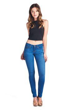 Parkers Jeans - Mid Rise Skinny 5280 VW  #denim #jeans #midrise #skinny #veniceblue #lookbook #crop #spring #lookbook #parkersjeans