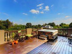 {South, East & Some North views} * totally unobstructed views of downtown. Durable composite TREX decking.
