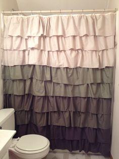 maribella vermillion ombre ruffled shower curtain pinterest ruffle shower curtains apartments and bath purple ruffle curtains r46 shower