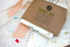 No me toques las Helvéticas | Blog sobre diseño gráfico y publicidad: Invitaciones de boda en pañuelos de tela