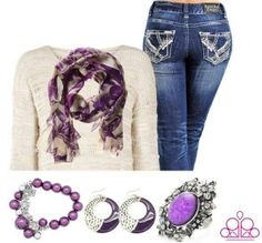 Purple Paparazzi accessories give you a regal look! Only $5 each! To purchase: http://www.paparazziaccessories.com/23150