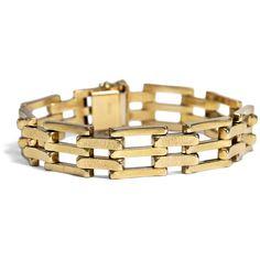 - Klassisches vintage Armband aus Gold, Pforzheim um 1955 von Hofer Antikschmuck aus Berlin // #hoferantikschmuck #antik #schmuck # #antique #jewellery #jewelry // www.hofer-antikschmuck.de (21-2547)