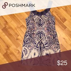 464a3802bd3f Free People Jeweled Lace Ethnic Floral Print Sleeve Purple and Beige Summer  Dress Free People Dresses Midi