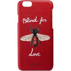 Gucci Blind For Love Iphone 6 Case ($270) ❤ liked on Polyvore featuring accessories, tech accessories, phone cases, red, gucci and fillers
