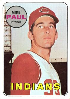 1969 Topps #537 Mike Paul Front