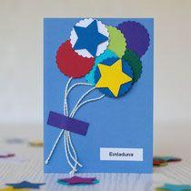 Bunte Einladungskarten - Ideen für bunte Kindergeburtstage