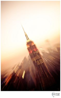 Zoom Burst Shot of the Empire State Building in New York City by Katja Wright Photography