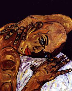 "Saatchi Art Artist CARMEN LUNA; Painting, ""24-Expressions of Carmen Luna. Recordando."" #art http://www.saatchiart.com/art-collection/Painting-Mixed-Media/Expressions-of-Carmen-Luna/71968/25377/view"
