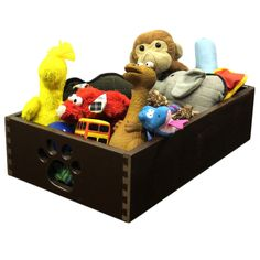 Dynamic Accents Mahogany Wooden Pet Toy Box