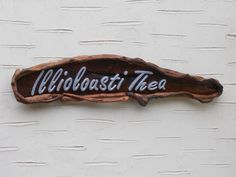 Driftwood house name sign with hand cut lettering House Name Signs, House Names, Driftwood Signs, Name Plaques, Lettering, Drawing Letters, Texting