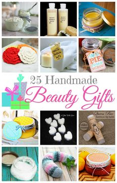 Check out this collection of 25 Handmade Beauty Gifts!  Perfect ideas for holiday gift giving.  pitterandglink.com