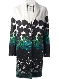 CEDRIC CHARLIER Printed Single Breasted Coat