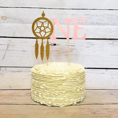 Items similar to Dream catcher cake topper - first birthday decor - cake topper - boho party - boho birthday - aztec birthday - pow wow party - dream catcher on Etsy Wild One Birthday Party, Girl 2nd Birthday, Birthday Bash, First Birthday Parties, First Birthdays, Birthday Ideas, Dream Catcher Cake, Pow Wow Party, Birthday Pictures