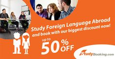 Learning another language can actually help boost your self-esteem. It becomes our pride knowing that we can speak more than one (1) language, isn't it? In studybooking.com, we help you to boost your self-esteem by offering you language courses all over the world! Enjoy learning another language at the same time, enjoy saving your money! Book with us now and save up to 50% on your total fees! Visit the link to view more discounted language courses: