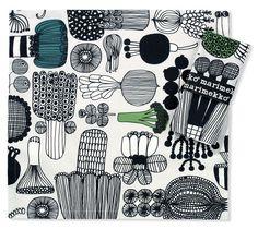Marimekko 2 Cotton Napkins Puutarhurin Parhaat £19.00 - Kitchen & Dining - Tablecloths, Placemats and Coasters ILLUSTRATED LIVING