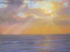 """American Legacy Fine Arts presents """"Rays of Light Over St. Malo Beach"""" a painting by Peter Adams."""