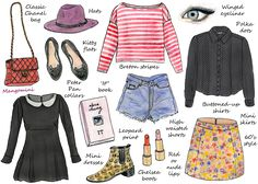 How To Dress Like Alexa Chung | illustration by Cindi Mangomini | Hello Giggles
