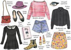 How To Dress Like Alexa Chung | illustration by Cindi Mangomini | Hello Giggles