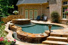 plunging pools and landscaping | Swimming Pool Landscape Picture Raleigh : Images of Swimming Pools ...