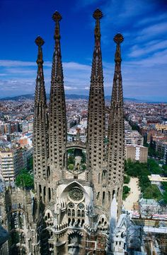 Top of Passion Facade Towers, La Sagrada Familia - Barcelona - Lonely Planet essential stop for Europe 1st timers