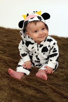 cow baby clothes animal baby onesie cute baby clothes outfit cow costumeshalloween - Baby Cow Costume Halloween