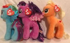 "Small 7"" TY 2014 My Little Pony Apple Jack Plush NWT Orange Stuffed Toy  | eBay Shrinky Dinks, Beanie Boos, Twilight Sparkle, Shopkins, Stuffed Toys, Rainbow Dash, Plush Animals, Toy Sale, Beanies"