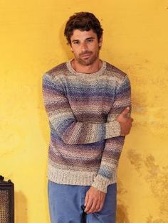 Guido - Knit this mens striped sweater from Rowan Knitting & Crochet Magazine 55, a design by Carlo Volpi using the beautiful yarn Purelife Revive (...