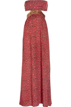 Rapture embellished leopard-print cotton maxi dress by Tara Matthews