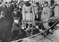 Hitler-youth boy with an MG42