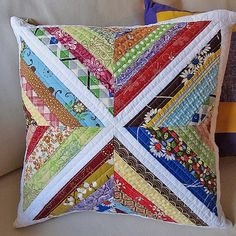 a little inspiration for a quilted throw pillow
