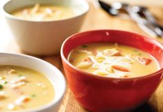 Soup recipes are great when you need something to warm you up. Mom's Famous Chicken Soup is not your average chicken soup recipe. Loaded with veggies and a splash of hot sauce, American cheese is then melted in to give it a creamy cheesy flavor that Vegetable Soup With Chicken, Chicken Soup Recipes, Veggie Soup, Korma, Biryani, Soup Kitchen, Kitchen Recipes, Campbells Soup Recipes, Campbells Sauces