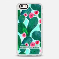 COLORFUL CACTUS JADE - protective iPhone 6 phone case in Clear and Clear by Crystal Walen | Plants it on your case! >>> https://www.casetify.com/product/colorful-cactus-jade/iphone6s/new-standard-case#/177607 | @casetify