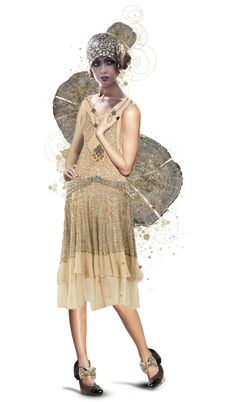 """roaring 20's"" by crazyfish ❤ liked on Polyvore"