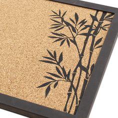 Kork Pinnwand, Memoboard, Bambus Motiv Memo Boards, Cork Boards, Storage Places, Wooden Frames, Wall Design, Home Accessories, Invitations, Prints, Decor