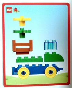 Makes car, ship, gas station, house, grocery store! Lego Duplo Train, Lego Duplo Sets, Lego Therapy, Autism Resources, Lego Worlds, Lego Design, Lego Projects, Lego Instructions, Lego Brick