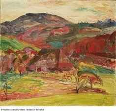 Cuno Amiet    Landschaft bei Oschwand, 1919 (Dez.) Öl auf Leinwand 55 x 60 cm