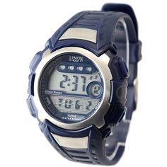 DW326D Dark Blue Watchcase Chronograph osvetlitev ozadja Water Resist Mens Digital Watch