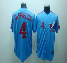 Montreal Expos 4 OeSHIELDS Blue Jerseys Throwback