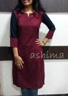 Code:2502160- Woven Cotton Kurta- Price INR:890/-